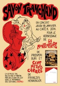 2007 - Café K / Paris - Dessin de Prosperi Buri - Savon Tranchand