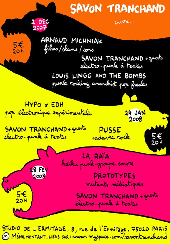 2007-2008 - Les Tigres de l'Art Rock / Paris - Savon Tranchand