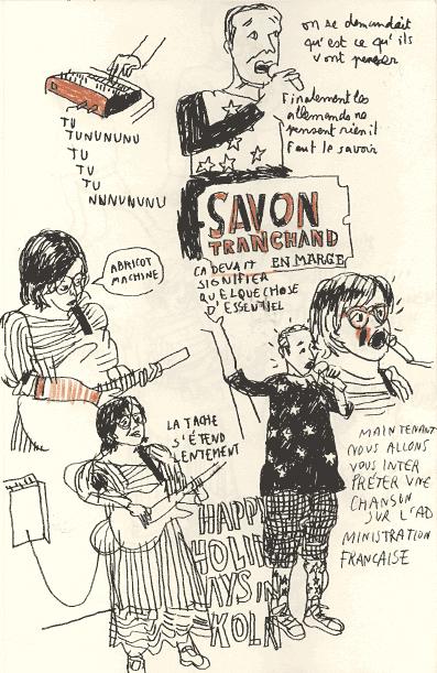 2007 - En Marge / Paris - Dessin de Benoit Guillaume - Savon Tranchand