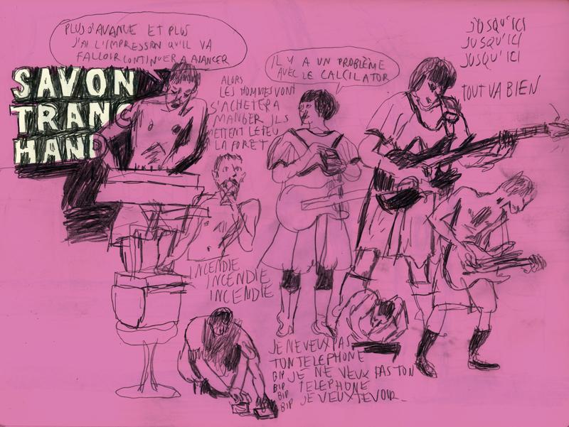 2012 - Mains d'Oeuvres / St Ouen - Dessin de Benoit Guillaume - Savon Tranchand